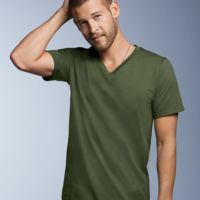 Lightweight Ringspun V-Neck